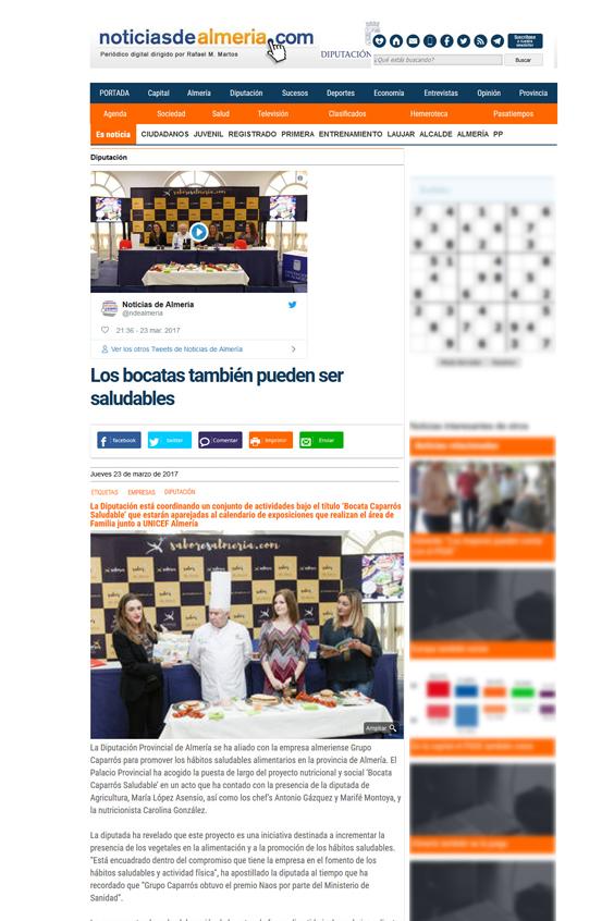 Noticias de Almeria Los bocatas también pueden ser saludables - En los medios