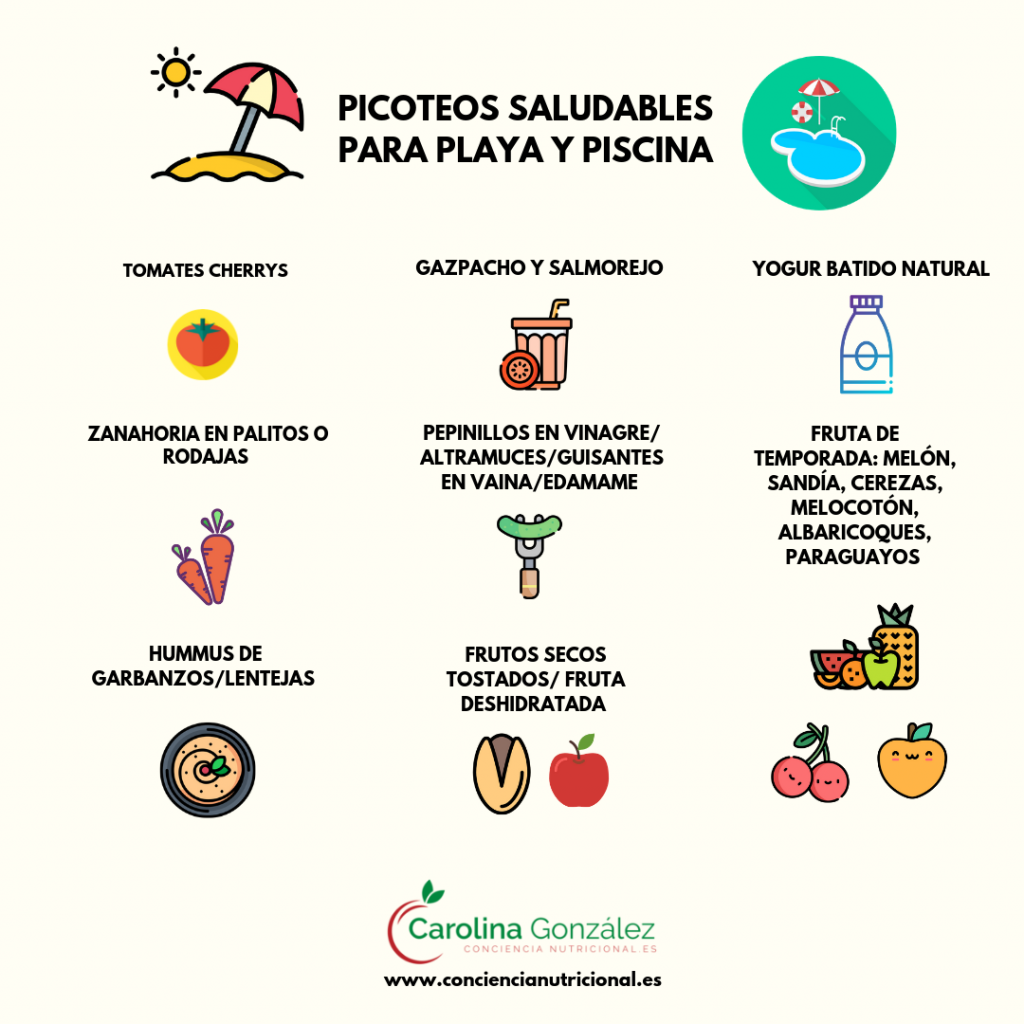 Picoteos saludables para playa y piscina_picoteos