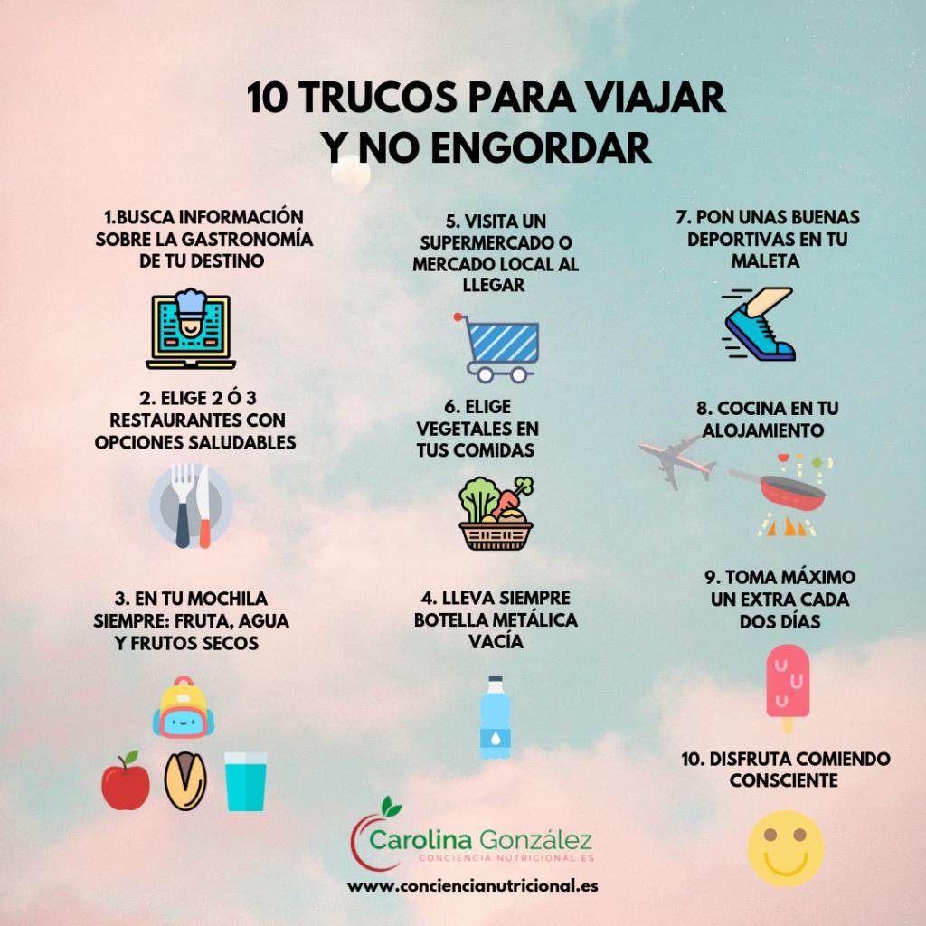 Infografia 10 trucos para viajar sin engordar  1024x1024 - 10 TRUCOS PARA VIAJAR Y NO ENGORDAR