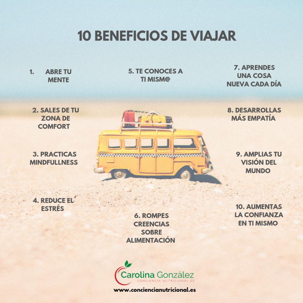 infografía 10 beneficios de viajar  1024x1024 - 10 TRUCOS PARA VIAJAR Y NO ENGORDAR